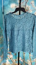 NWT MUDD Junior Lace Long Sleeve Top, Size Large, Retail $30.00