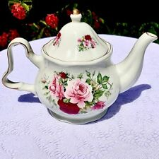 Formalities by Baum Bros Victorian Rose Teapot Gold Trim