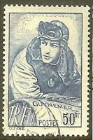 "FRANCE TIMBRE STAMP 461 "" CAPITAINE AVIATEUR GEORGES GUYNEMER 50F "" OBLITERE TB"