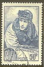 """FRANCE TIMBRE STAMP 461 """" CAPITAINE AVIATEUR GEORGES GUYNEMER 50F """" OBLITERE TB"""