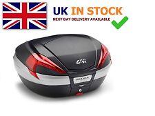 Givi V56 with FREE E111 BACKREST motorcyle TOP BOX topbox case MONOKEY new 55L