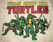 Vintage TEENAGE MUTANT NINJA TURTLES  80s T-Shirt Tri-Blend COMIC M 10-12 TMNT