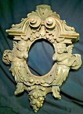 Antique 18th Century carved Gilt Wood Baroque Picture Frame Architectural Putti