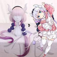 Miss Kobayashi's Dragon Maid Kanna Kamui Long Cosplay Wig + Balls + Tail + Horns
