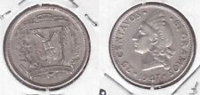 DOMINICAN REPUBLIC - SILVER 25 CENTAVOS COIN 1947 YEAR KM#20