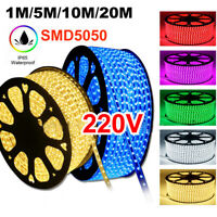 220V-240V 5050 Waterproof LED Strip Lights RGB Flexible Tape Rope Light AU Plug