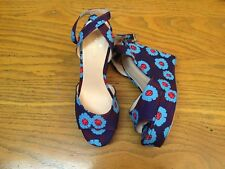 KATE SPADE NEW YORK FLORAL WEDGE PLATFORM SHOES NEW SIZE 6.5