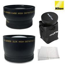 I3ePro 52MM Wide Angle & Telephoto for Nikon DSLR D7200 D5500 D5300 D3300 D3200