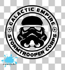 Star Wars Storm Trooper Imperio Galáctico van parachoques Pared Vw Arte Sticker Decal