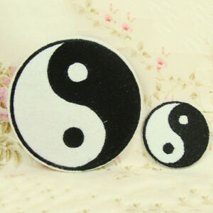 1pcs Ying Yang Applique Iron On Patch Fabric Sticker Patches 3 Sizes Hot^lk