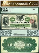 1862 $10 Legal Tender Note FR-93 PCGS AU55