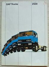 DAF 2500 TRUCKS Commercial Vehicles Sales Brochure c1982