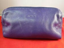 Fc4 Vtg Saddler Purple Genuine Leather Zip Top Toiletry Makeup Cosmetic Bag