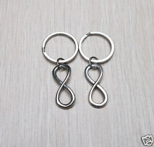 2pcs Handmade Charm Infinity Keychain Personalized Key Ring  Fashion Jewelry