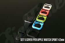 PER Apple Watch Sport CASE 42mm SET 5 COVER CUSTODIA TPU PROTEZIONE BUMPER
