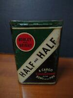Vintage Burley and Bright Half And Half Tobacco Tin Tobacco Advertisement