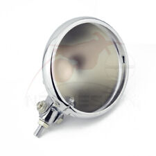 "5-3/4"" Chrome Motorcycle Light Headlamp Headlight Bottom Mount Housing Bucket"