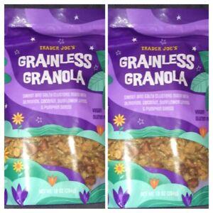 Trader Joe's GRAINLESS GRANOLA Clusters 10 oz Bag Vegan Gluten Free 2 PACK