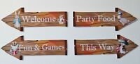 Peter Rabbit Party Props / Decorations Arrow Signs - Baby Shower Birthday Party