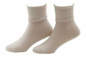 Stride Rite Girl's 2-Pairs White Glimmer Comfort Seam Fold Over Socks