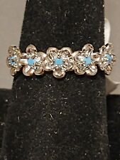 Ring Bomb Party - Gypsy Luxe - Turquoise flower ring - size 9
