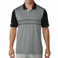 adidas Golf 2018 Ultimate365 3 Stripes Engineered Polo Shirt (grey Three/black) XXL