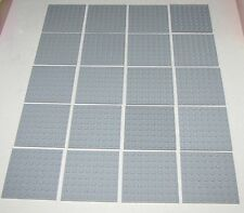Lego Lot of 20 New Light Bluish Gray Plates 8 x 8 Dot Pieces Building Blocks