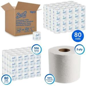 Scott Essential Professional 100% Recycled Fiber Bulk Toilet Paper For Business