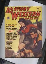 10 story  western   Magazine pulp dec 1951 sexy cowgirl dvr free usa shipping