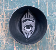 Evil Eye Handmade Porcelain Ceramic Jewelry Catch Dish