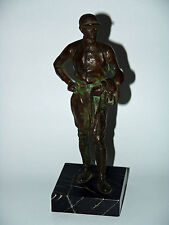 Jockey BRONZE statue en marbre socle Bronce hors-racer on Marble Base
