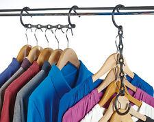 4 x Space Saving Hangers  Cascading Wardrobe Storage Clothes Closet Racks Closet