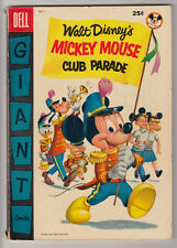 MICKEY MOUSE CLUB PARADE # 1 Dell Giant 1955 PHANTOM BLOT Mouseketeers VG 4.0