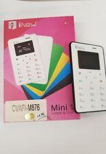 MINI CELLULARE PALMARE INEW CREDIT CARD PHONE TASCABILE FORMATO CARTA DI CREDITO