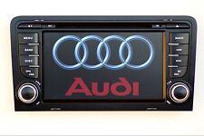 """AUTORADIO 7"""" ANDROID 8.0 MIRROR LINK DAB+ STEREO PER AUDI A3 S3 DAL 2003 AL 2013"""
