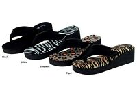 Womens Fashion Open Toes Flip Flop Platform Wedge Sandals  5 6 7 8 9 10  11