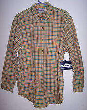 CANOPY CLOTHING CO. Men's Long-Sleeved Plaid Shirt - Medium - 100% Rayon - EUC!