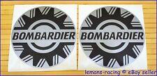 "Silver Sea Doo Bombardier Vinyl Decals Stickers Emblems BRP x2 pieces 4 or 5"""