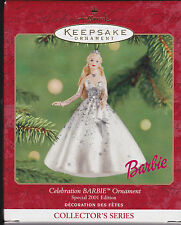 2001 Hallmark Celebration Barbie Series Ornament Dated NIB NEW