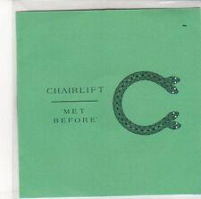 (ED733) Chairlift, Met Before - 2012 DJ CD