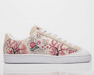 Puma x Liberty Basket Women's Birch Pink Low Casual Lifestyle Sneakers Shoes