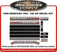 1988 MERCURY 150 hp XR4  Outboard Decals  reproduction