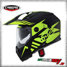 CASCO INTEGRALE CABERG XTRACE LUXMATT BLACK YELLOW FLUO TAGLIA XL (61-62)