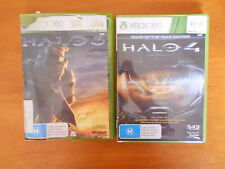 XBOX 360 HALO 4 GAME OF YR EDITION 2 DISCS(Master Chief Avatar Cloak) + HALO 3