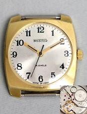 Klassische elegante retro WOSTOK Uhr. USSR vintage gold-plt. dress watch AUKTION