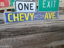 METAL CHEVY AVE CHEVROLET Display car auto retro Look parts GM PICK UP silverad