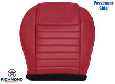 2005-2009 Ford Mustang -Passenger Side Bottom Replacement Leather Seat Cover Red
