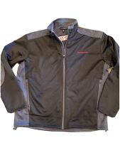 Honda Jacket Wind Breaker size Large Black Gray Zipper Premier Dealership