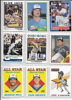 Roy Halladay plus 8 more Blue Jays baseball card lot