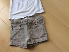 Short MONOPRIX et tee shirt H&M 5 ans